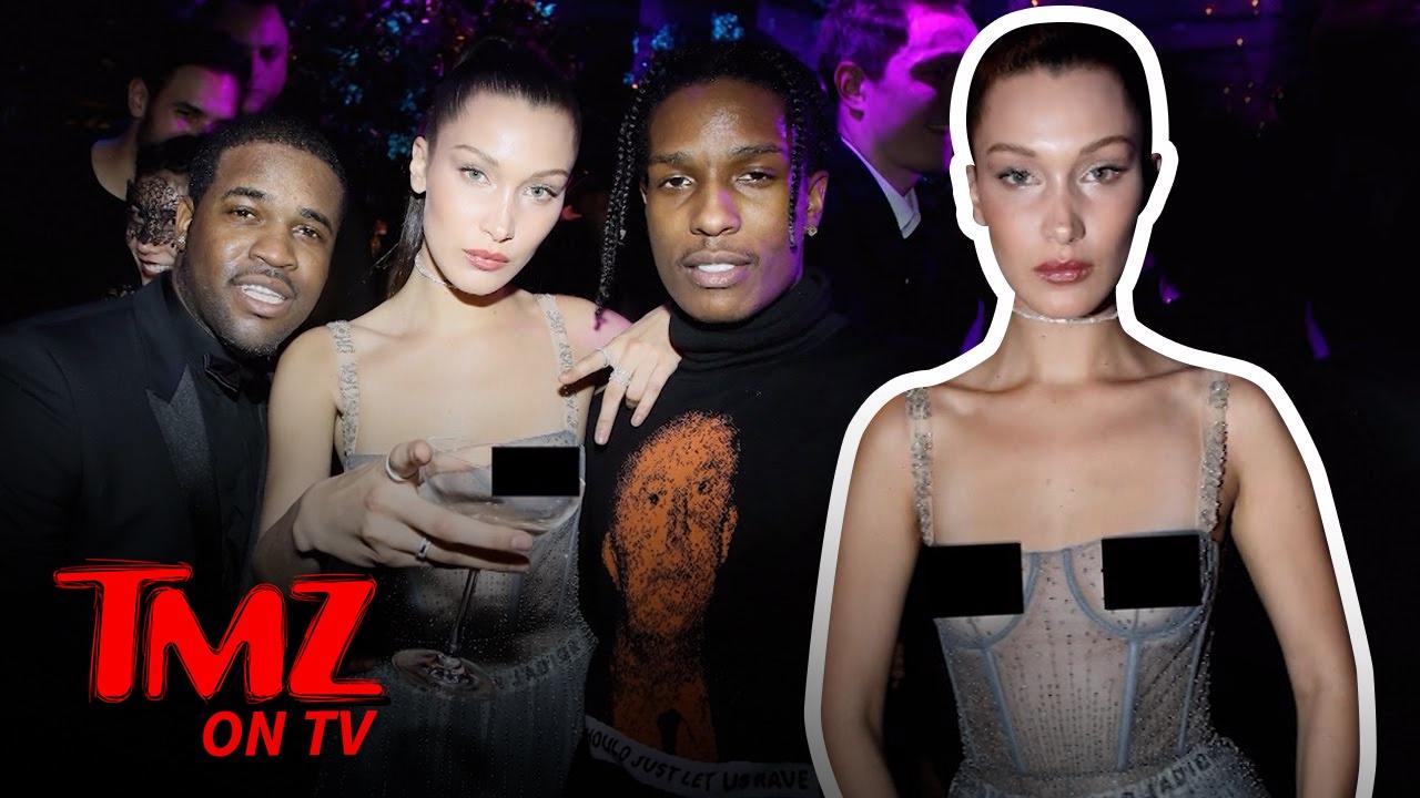 Bella Hadid Bares It All During Paris Fashion Week | TMZ TV
