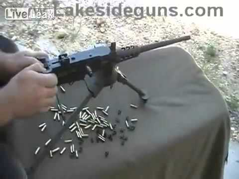 Scale Model 50-Cal Machinegun Fires Real  22 Cal bullets)