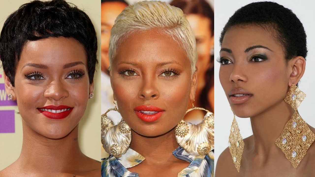 Top 50 Short Hairstyles For Black Women - YouTube