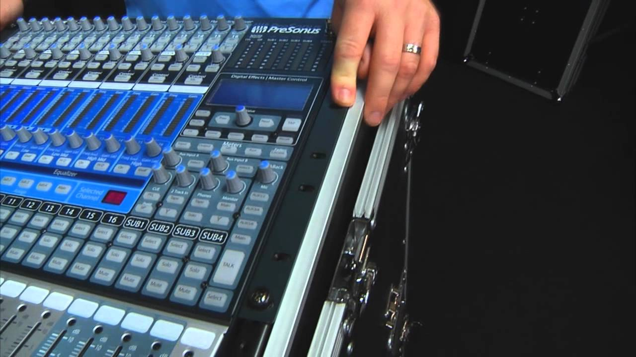 presonus studiolive 16 4 2 digital mixer in an osp 16 space mixer amp portable pa roll around. Black Bedroom Furniture Sets. Home Design Ideas