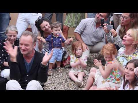 Sting and his son Joe Sumner sing at Farm Shop Il Palagio