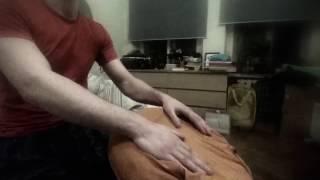 Урок игры на барабане джембе, тренировка.