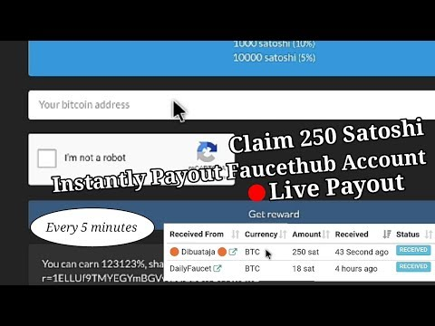 Claim 250 Satoshi Your Faucethub Wallet Instantly Payout Every 5 Minutes