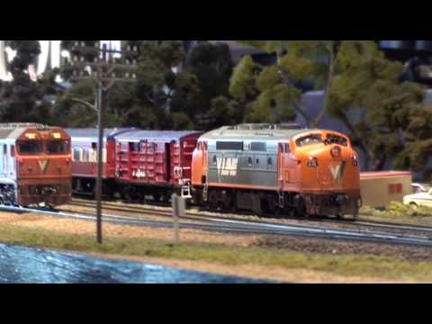 Sandown Model Railway Exhibition 2017 - Part 1 Australian Trains