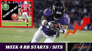 2018 Fantasy Football Lineup Advice  - Week 4 RB's Start/Sit Episode