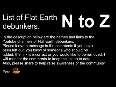 List of Flat Earth debunkers N to Z thumbnail