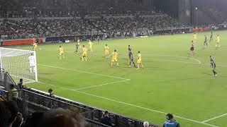 La sud esulta all'errore di Ronaldo Frosinone Juventus 0-2 23.09.2018