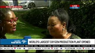 The World largest oxygen production plant opened in Secunda