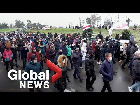 Belarus protests: Demonstrators march in Minsk, continue to demand Lukashenko's resignation