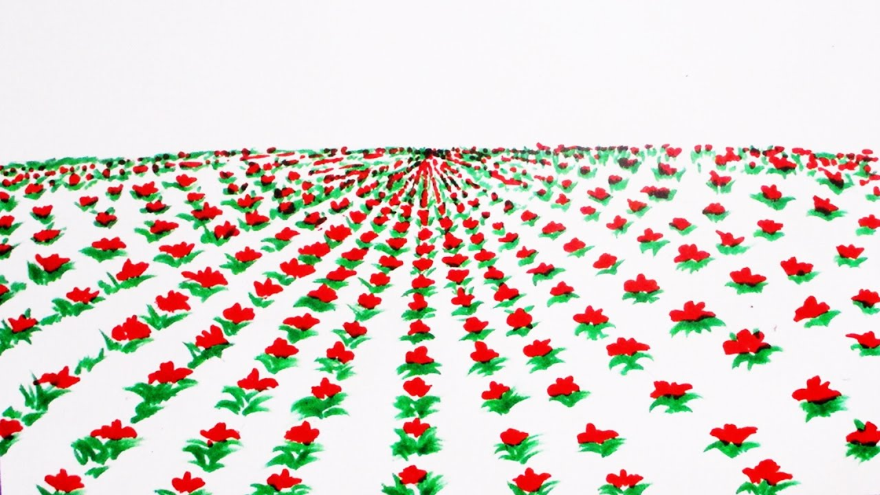 How to draw flower rows scenery drawing channel41 youtube how to draw flower rows scenery drawing channel41 ccuart Images