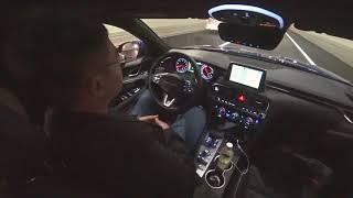 [무편집] 3분 30여초간 운전자 개입없이 스스로 운전하는 제네시스 G70 2.0 터보 thumbnail