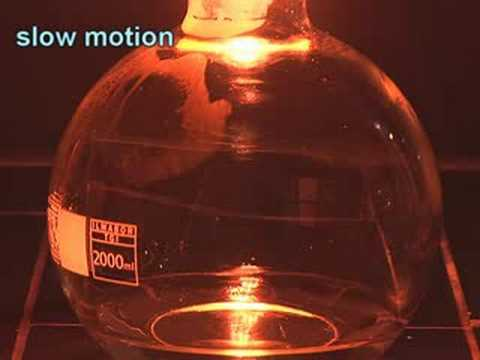 Combustion Of Iron In Pure Oxygen