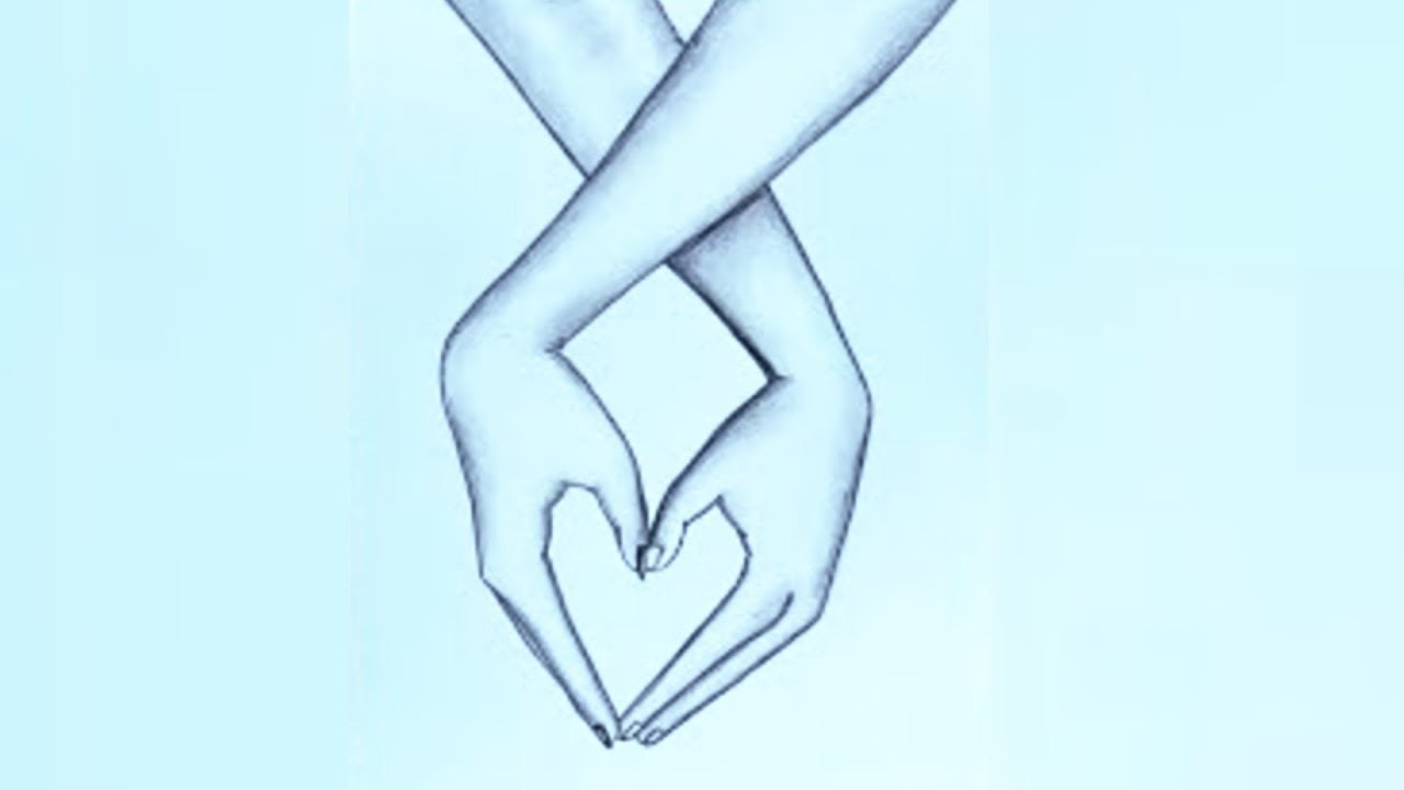 Romantic Couple Holding Hands pencil sketch || How to draw ...Grabbing Hand Drawing