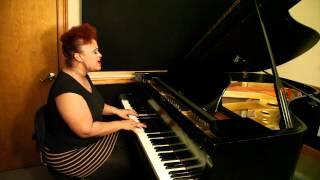 Amber Bullock - Recording the New Album - So In Love - Available July 10 - Piano Clip - Part 1 of 2