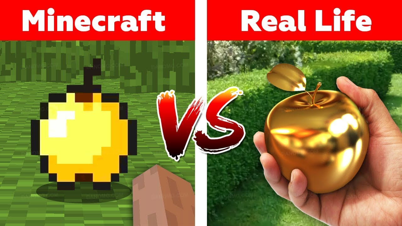 Download MINECRAFT GOLDEN APPLE IN REAL LIFE! Minecraft vs Real Life animation