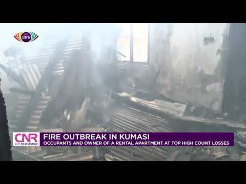 Occupants of rental apartment in Kumasi count their losses after fire outbreak | Citi Newsroom