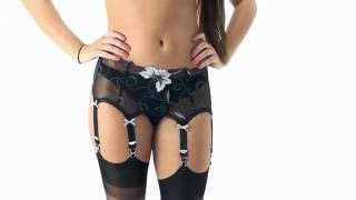 UK Tights - Sassy 6 Strap Selena Suspender Belt