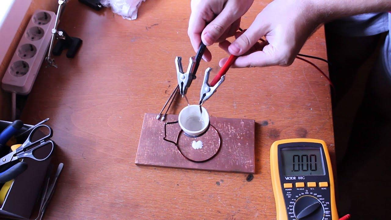 Molten Salt Battery : Diy molten salt battery youtube
