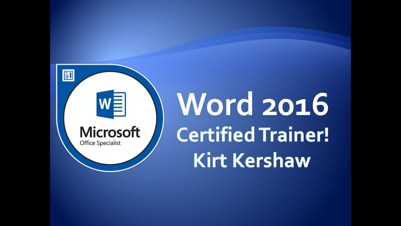 Word 2016 Tutorial for Beginners – How to Use Word Part 1