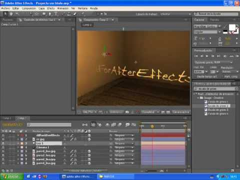 Tutorial after effects cuarto 3d luces by for Habitacion 3d after effects