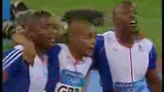 2004 Olympic 4x100m relay fnal men
