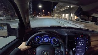 2019 Ram 1500 Limited Crew Cab 4x4 - POV Night Drive (Binaural Audio)