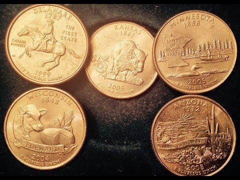State Quarter Error Coins To Look For; Delaware, Kansas, Minnesota, Wisconsin, Arizona)