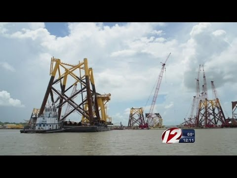 First Foundation Installed for Deepwater Wind Farm