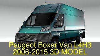 3D Model of Peugeot Boxer Van L4H3 2006-2015 Review