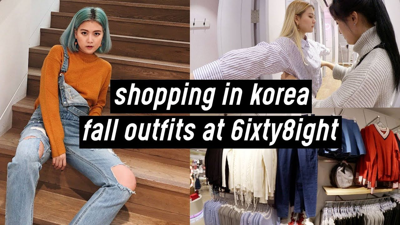 Shopping in Korea: Fall Outfits at 6IXTY8IGHT | Q2HAN 4
