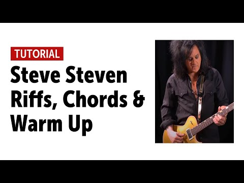 Steve Stevens - Riffs, Chords & Warm Up