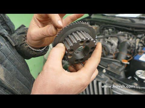 Причина дисбаланса двигателя  Mitsubishi L200 — самодельные зубья на счетном кольце коленвала