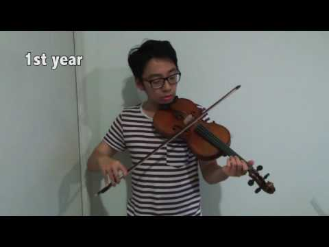 The progress you make learning the violin.