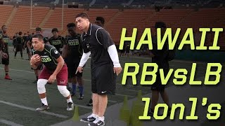 Hawaii RB vs LB 1 on 1