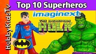 Top 10 Superheros Imaginext Superman Hulk Batman by HobbyKidsTV
