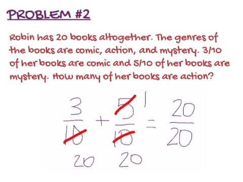 Word Problems with Fractions - YouTube