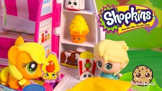 Shopkins Season 2 Unboxing With Fash'ems Toys Disney Frozen Queen Elsa & MLP Applejack In RV Part 1
