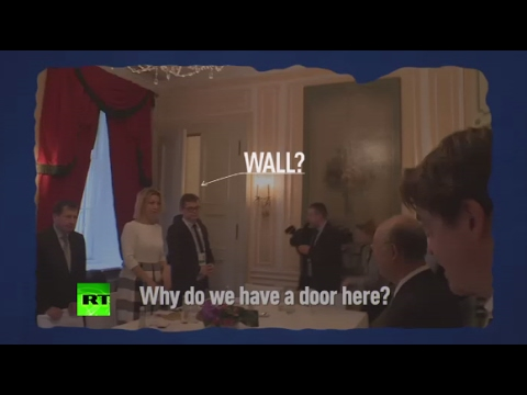 'What do we have here? A door? A wall?' Lavrov looking for spies in conference room
