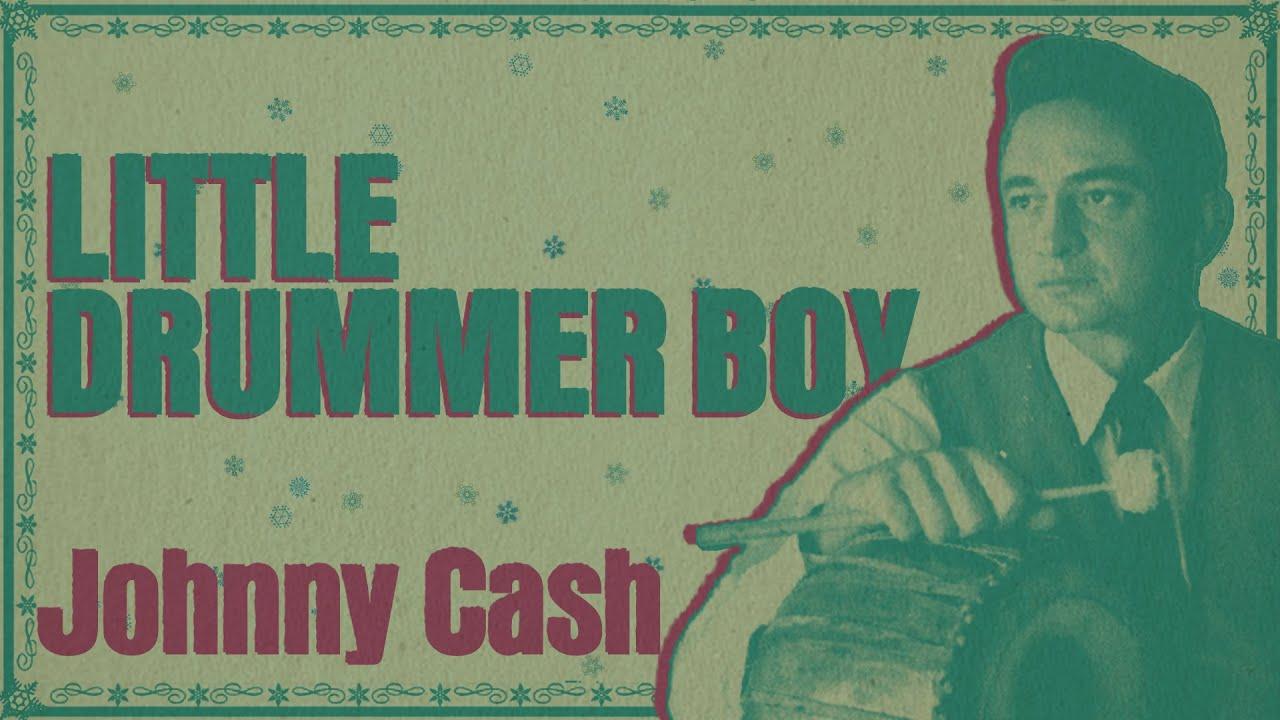 Johnny Cash - The Little Drummer Boy (Christmas Songs - Yule Log)