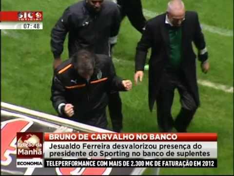 Jesualdo Ferreira desvaloriza presença de Bruno de Carvalho no banco 02/04/2013