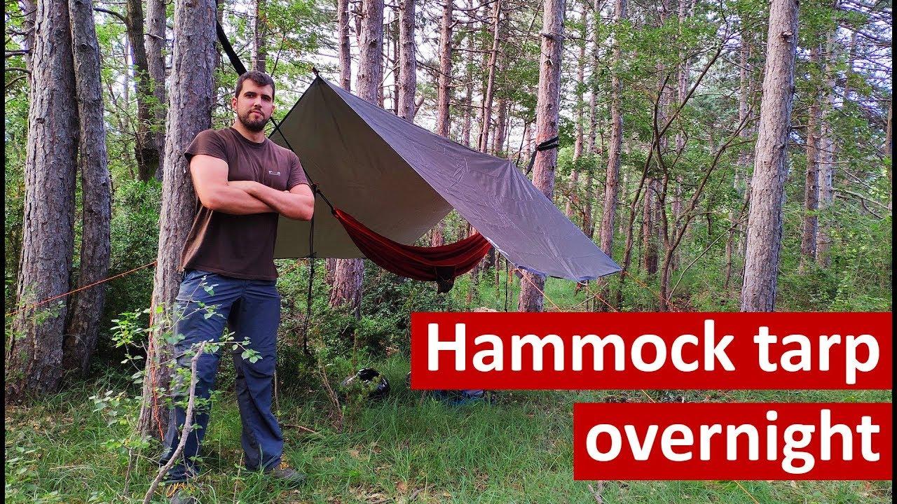 2c4ca0704a5 Hammock rain tarp shelter for camping on Quechua Decathlon comfortable  two-person