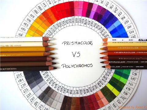 Prismacolor Vs Faber Castell Polychromos Colors Matching Youtube