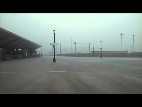 Rare Catch Of A Heavy Rain Storm In Flushing Meadows, Corona Park Queens, New York