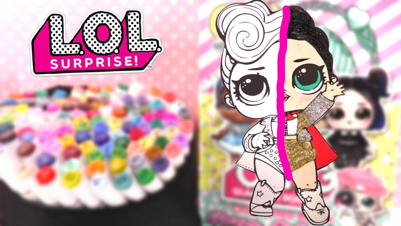 Poupées LOL Coloriage Glitter Scintillante Paillettes The Queen