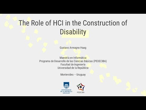 Master Thesis Presentation - The Role of HCI in the Construction of Disability