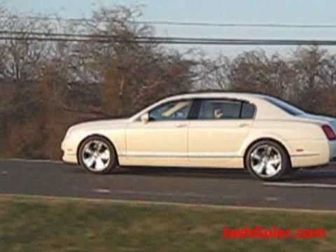 Pearl Bentley Continental Flying Spur on Highway