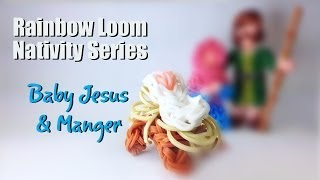 Rainbow Loom Nativity Series: Baby Jesus Figure And Manger
