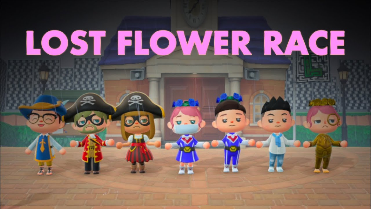 """""""Lost Flower TEAM Race"""" in Animal Crossing New Horizons vs other Youtubers!"""