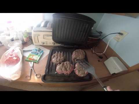 Making Some Awesome Burgers On The George Foreman The Better Way