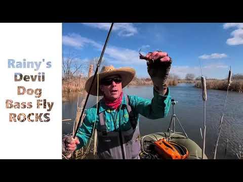 bass-fishing-my-neighbor's-pond-//-fly-fishing-small-water-largemouth
